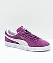 PUMA Suede Classic+ Grape & White Shoes