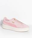 PUMA Suede Platform Mono Satin Pink Shoes