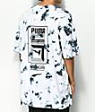 PUMA Tower Logo Black & White Tie Dye T-Shirt