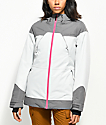 PWDR ROOM Heartland 10K chaqueta de snowboard gris