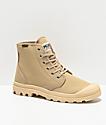 Palladium Pampa Hi Originale Sahara Khaki & Beige Boots
