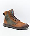 Palladium Pampa Sport Cuff WPN Brown & Moon Grey Boots