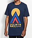 Parks Project CO Rocky Mountain Hut Hut Kike camiseta en azul marino