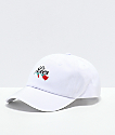Petals & Peacocks Lies White Strapback Hat