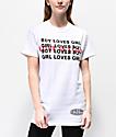 Petals & Peacocks Love Is Love White T-Shirt