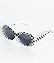 Petals & Peacocks Nevermind White Checkerboard Sunglasses