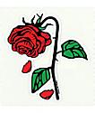 Petals & Peacocks Petal Rose pegatina