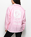 Petals & Peacocks Delicate Petals Pink Coaches Jacket