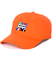 Petals & Peacocks Offline Orange Baseball Hat