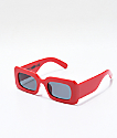 Petals & Peacocks Rhubic Square Red & Black Sunglasses
