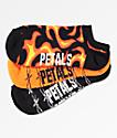 Petals and Peacocks paquete de 3 calcetines con llamas y alambre de púas