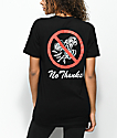 Petals by Petals & Peacocks Dont Send Flowers Black T-Shirt