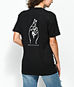 Petals by Petals & Peacocks Pretty Liar camiseta negra