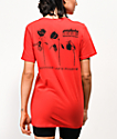 Petals by Petals and Peacocks Dying Rose Red Boyfriend T-Shirt