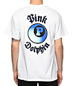 Pink Dolphin 3D 8-Ball White T-Shirt