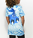 Pink Dolphin Ghost Cherry Blue Tie Dye T-Shirt