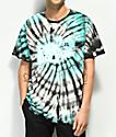 Pink Dolphin Ghost Script Multi Tie Dye T-Shirt