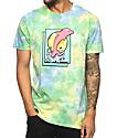 Pink Dolphin Promo camiseta con efecto tie dye