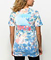 Pink Dolphin Wave Block Tie Dye T-Shirt