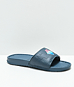 Pink Dolphin Waves 2.0 Charcoal Slide Sandals