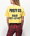 Post Malone Posty Co. Yellow Crop T-Shirt