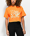 Post Malone Stoney Buck Hunt Club camiseta corta en naranja