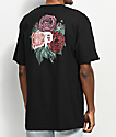 Primitive Bloom camiseta negra