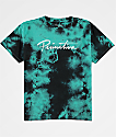Primitive Boys Nuevo Waves Teal Tie Dye T-Shirt