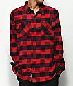 Primitive Buffalo Red & Black Ikat Flannel Shirt