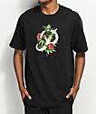 Primitive Classic P Rosebud camiseta negra