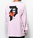 Primitive Dirty P Crush camiseta rosa de manga larga