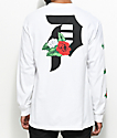 Primitive Dirty P Dos Flores camiseta blanca de manga larga