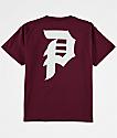 Primitive Dirty P camiseta en color borgoño para niños