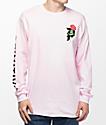 Primitive Heartbreakers camiseta rosa de manga larga