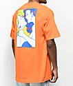 Primitive Kiss camiseta naranja con bolsillo