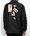 Primitive Moods chaqueta negra estilo entrenador