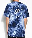 Primitive Orbit camiseta en azul marino con efecto tie dye