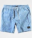 Primitive Pool Party Blue & White Shorts