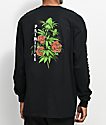 Primitive Rosebud Black Long Sleeve T-Shirt