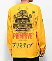 Primitive Samurai camiseta amarilla de manga larga