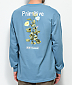 Primitive Tulip Blue Long Sleeve T-Shirt