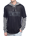 Primitive Two-Fer Baseball Black Pullover Hoodie