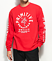 Primitive X Huy Fong Big Arch Rooster Red Long Sleeve T-Shirt