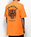 Primitive camiseta naranja con tigre