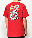 Primitive x Dragon Ball Z Shenron Nuevo camiseta roja