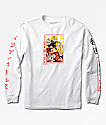 Primitive x Dragon Ball Z Super Saiyan Goku camiseta blanca de manga larga