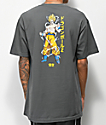 Primitive x Dragon Ball Z Super Saiyan Goku camiseta gris