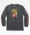 Primitive x Dragon Ball Z Super Saiyan Goku camiseta gris de manga larga