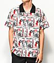 Primitive x Dragon Ball Z Typo camisa tejida blanca