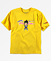 Primitive x Dragon Ball Z Vegeta Nuevo camiseta amarilla para niños